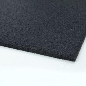 Λαστιχένιο πάτωμα, πλακάκι, λείο, 100x50cm, πάχους 15mm, μαύρο