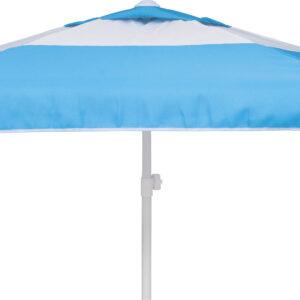 Ομπρέλα Παραλίας 2m 6 Ακτίνες Γαλάζιο/Λευκό