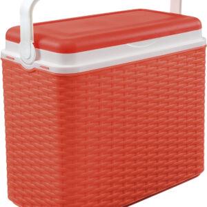 Ισοθερμικό Ψυγείο Κόκκινο Ράτταν 24L