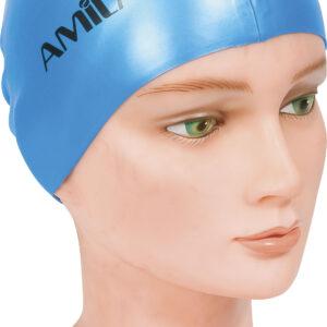 Σκουφάκι Κολύμβησης AMILA Basic Μπλε Ανοιχτό