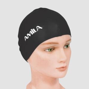 Σκουφάκι Κολύμβησης AMILA Basic Μαύρο