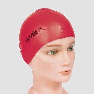 Σκουφάκι Κολύμβησης AMILA Basic Κόκκινο