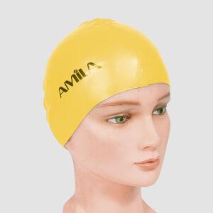 Σκουφάκι Κολύμβησης AMILA Basic Κίτρινο