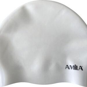 Σκουφάκι Κολύμβησης AMILA Long Hair HQ Λευκό
