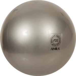Μπάλα Ρυθμικής Γυμναστικής 19cm FIG Approved, Ασημί