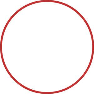 Χούλα-Χουπ 60cm - Φ18mm - 120gr, Κόκκινο