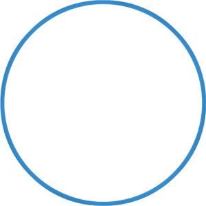 Χούλα-Χουπ 60cm - Φ18mm - 120gr, Μπλε