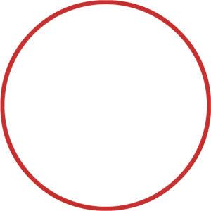 Χούλα-Χουπ 60cm - Φ18mm - 155gr, Κόκκινο