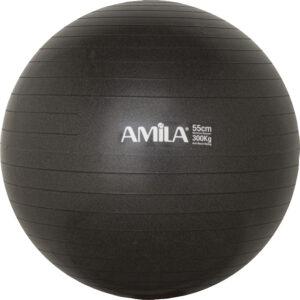 Μπάλα Γυμναστικής AMILA GYMBALL 55cm Μαύρη Bulk