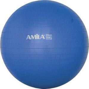 Μπάλα Γυμναστικής AMILA GYMBALL 55cm Μπλε Bulk