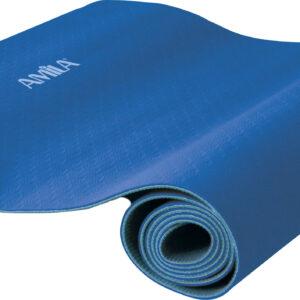 Στρώμα Yoga 6mm TPE Μπλε/Γαλάζιο