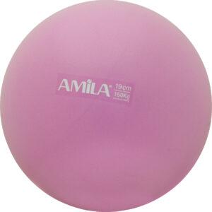 Μπάλα Pilates 19cm, Ροζ, bulk