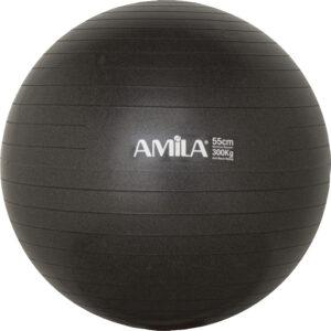 Μπάλα Γυμναστικής AMILA GYMBALL 55cm Μαύρη