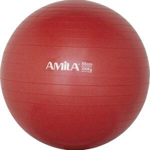 Μπάλα Γυμναστικής AMILA GYMBALL 55cm Κόκκινη