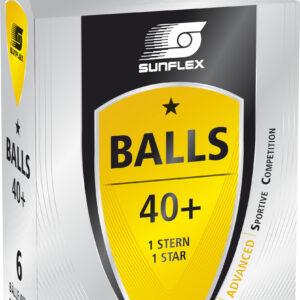 Μπαλάκια Ping Pong Sunflex Advanced PVC 6 Τεμάχια