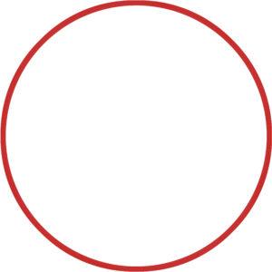 Χούλα Χουπ HQ 80cm - Φ19mm - 330gr, Κόκκινο