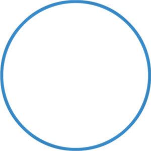 Χούλα Χουπ HQ 80cm - Φ19mm - 330gr, Μπλε
