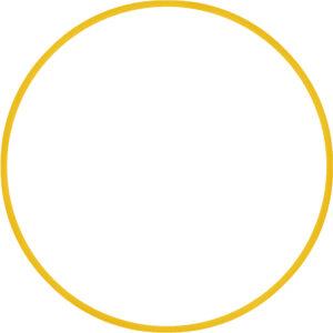 Χούλα Χουπ HQ 80cm - Φ19mm - 330gr, Κίτρινο